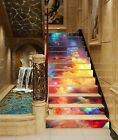 3D Color Clouds Sky Stair Risers Decoration Photo Mural Vinyl Decal Wallpaper UK