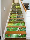 3D Forest Flower 90 Stair Risers Decoration Photo Mural Vinyl Decal Wallpaper UK