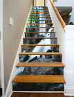 3D Black stones 244 Stair Risers Decoration Photo Mural Vinyl Decal Wallpaper AU