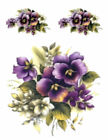 Внешний вид - Vintage Image Victorian Purple Violets Pansies Shabby Waterslide Decals FL156