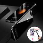 Luxury Aluminum Metal Bumper Gorilla Glass Back Cover Case for iPhone X 7 8 Plus