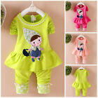 2pcs Kids Baby clothes baby girls clothes cotton outfits top+pants little girl