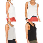 Fashion Women Lady Vest Casual  Sleeveless Tank Solid Color Waistcoat Blouse