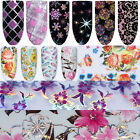 Nail Foils Transfer Stickers Decals Holographic Flower Nail Art Starry Paper