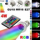 4W 5W E27/MR16/GU10 RGB LED Magic Spot Light Bulb Lamp 16 Colors Dimmable Remote