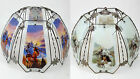 LAMP SHADE GLASS METAL NATIVE AMERICAN IMAGES (SHADE ONLY) CHOOSE ONE OR BOTH