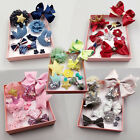 10pcs Kids Baby Girls Bow Hair Clips Lace Flowers Barrette Pins Set Gift Box USA