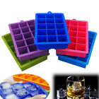 15-Cavity Silicone Square Ice Tray Mold Frozen Maker Big Ice Cube Tray Bar Mould