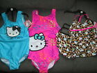 HELLO KITTY GIRLS 3D OR PINK SWIMMING COSTUME OR LEOPARD TANKINI SET AGE 4 5 6