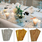 "Silver/Gold/Champagne Gold Glitter Sequin Table Runner 12""x108"" Sparkly Wedding"