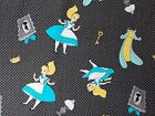 Alice in Wonderland Fabric Black Falling into Wonderland Disney Camelot Cotton