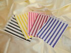 50 Coloured striped candy buffet sweetie bags *Your choice of colour*