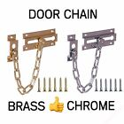 DOOR CHAIN RESTRICTOR Safety Guard Lock Slide Catch Strong Steel Security