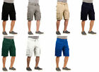 Revolution Men's Multi Pockets Cargo Shorts with Belt Casual Shorts 100% Cotton