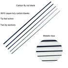 Aventik Saltwater IM10 High Mould Carbon Fly Rod Blanks 9FT 7/8/9WT, Two Tips