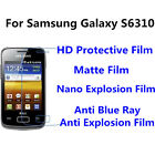 3pcs For Samsung Galaxy S6310 High Clear/Matte/Anti Blue Ray Screen Protector