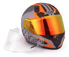 NENKI Full Face Street Helmet NK-856 With Drop Down Inner Visor,light wight,DOT