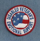 DISABLE VETERAN'S EMOTIONAL SUPPORT     ------ service dog vest patch ------