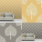 Fine Decor Annabelle Tree Wallpaper Leaf Foliage Motif 2 Colours
