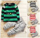 2pcs Kids Baby clothes baby girls boys clothes cotton top+pants outfits cat