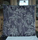 PEWTER AND GREY JACQUARD FLORAL DESIGN CUSHION COVER