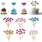 30pcs Love Heart Birthday Cupcake Toppers Party Baby Shower