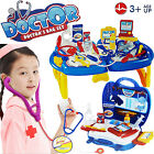 KIDS DOCTOR NURSE CARRY CASE MEDICAL KIT ROLE PLAY ACCESSORY SET XMAS TOYS GIFT