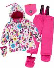 Deux par Deux Little Girls' 2-Piece Snowsuit Confetti Garden Fushia, Sizes 18-3