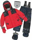 Deux par Deux Little Boys' 2-Piece Snowsuit Hey Mr Dj Red, Sizes 18-36M