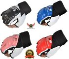 BooM Leather Gel Tech MMA Boxing UFC Grappling Gloves Fight Punch Bag Muay Thai
