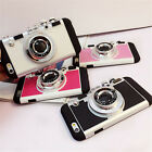 Korean Fashion 3D Camera Phone Case For iPhone Inside Silicon Long Strap Rope