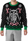 Star Wars Darth Vader Candy Cane Men's Ugly Christmas Sweater $31.74 CAD