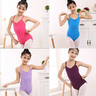 Girls Kids Short Sleeve Dancewear Gymnastics Leotards Ballet Leotard Costume