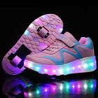 HOT SALE LED Light Roller Skate Shoes For Children Kids Sneakers With 2 Wheels
