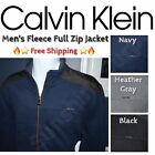 NEW Calvin Klein Jeans Men's Full Zip Fleece Sweater Jacket - VARIETY! Free Ship