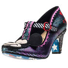 Irregular Choice I Heart Minnie Womens Shoes Purple Metalic New Shoes