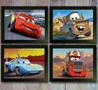 Disney Cars  set of 4 Poster Picture Print wall Movie Photo Character gift Decor