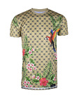 Mens Hipster Hip-Hop Premium Tees Stylish Longline All Over Print T-Shirts фото