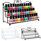 3 Tiers Metal Nail Polish Stand Holder Shelf Cosmetic Case Rack Makeup Organizer