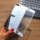 COLOR TEMPERED GLASS SCREEN PROTECTOR FRONT+BACK MIRROR FILM FOR IPHONE X 8 7 6