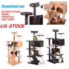 US Stock Cat Tree Tower Cat Condo Cat Furniture Cat Tower House Scratch Ladder