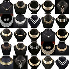 Fashion/charm Jewelry Crystal Choker Chunky Statement Bib Pendant Necklace Chain