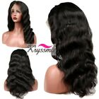 Brazilian Body Wave Straight Remy Human Hair Wigs Gluelss Full Lace Front Wigs