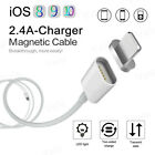2.4a Tpe Magnetic Adapter Charger Usb Fast Charging Cable For Iphone 5 6s 7 Plus
