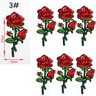 Rose Flower Embroidered Sew Iron On Patches Badge Fabric Applique Badge Craft GF фото