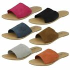Leather Collection Ladies Flat Mule Sandals - Style 072