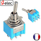 9001# Blue 6-Pin DPDT ON-ON Mini 6A125VAC Miniature Toggle Switches mts-203