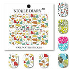 Nail Art Water Transfer Decals  Stickers Elegant Leaves Theme Tips