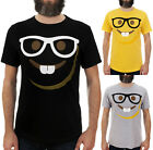 EMOJI NERD FACE / Mens, Black, Yellow, Grey T-Shirt