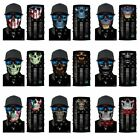 Neckerchief Face Shield Neck Gaiter Scarf Bandana Balaclava 3D Skull Sun Mask